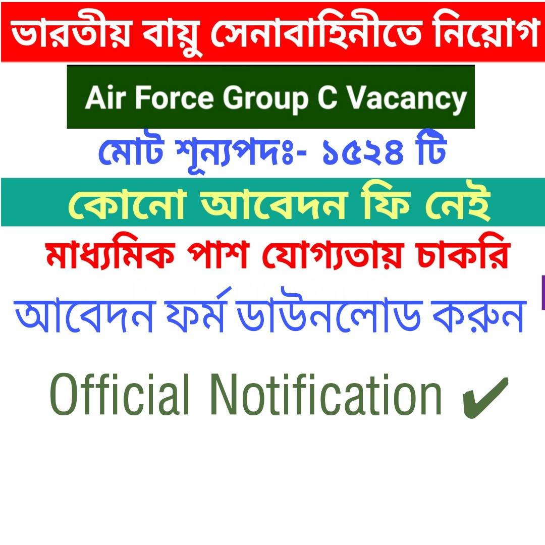Indian Airforce Group-c Vacancy 2021